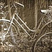 Old Bikes Art Print