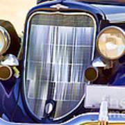 Old Blue Car Art Print