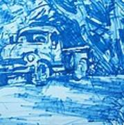 Old Blue Truck Art Print