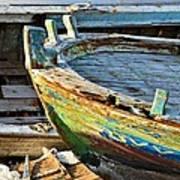 Old Boat - Lebanese Artist Zaher El- Bizri Art Print
