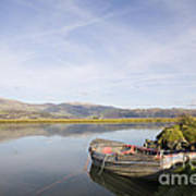 Old Boat On Afon Dovey River Art Print