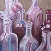Old Bottles Art Print by Kathy Weidner