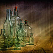 Old Bottles Art Print