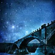 Old Bridge Over River Art Print