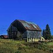 Old Broken Down Barn In Ohio Art Print