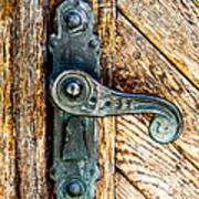 Old Bronze Church Door Handle Art Print