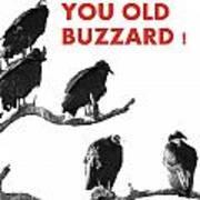 Old Buzzard Valentine Art Print