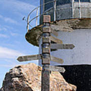 Old Cape Point Lighthouse In South Africa Art Print