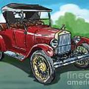 Old Car 04 Art Print