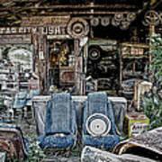 Old Car City Art Print