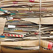 Old Cardboard Boxes  Art Print