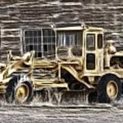 Old Cat Grader Art Print