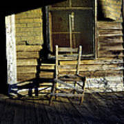 Old Chair On Old Porch Art Print
