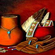 Old Cherokee Moccasins Art Print