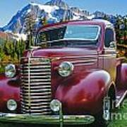 Old Chevy Pickup Ca5073-14 Art Print