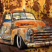 Old Chevy Rust Art Print