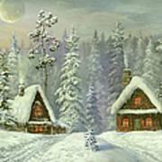 Old Christmas Card Art Print