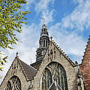 Old Church In Amsterdam Art Print