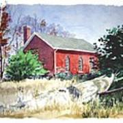 Old Church Schoolhouse  Art Print