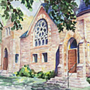 Old Church Print by Svetlana Howe
