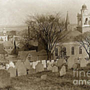 Old Church's Cemetery Graveyard Boston Massachusetts Circa 1900 Art Print