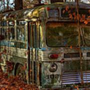 Old City Bus Art Print by Paul Herrmann