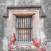 The Old City Jail Window Chs Art Print