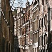 Old City Street Scene In London Art Print