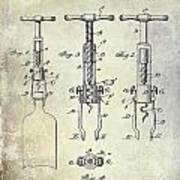 Corkscrew Patent Art Print
