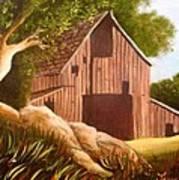 Old Country Barn Print by Janis  Tafoya