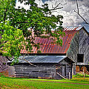Old Country Barn Art Print