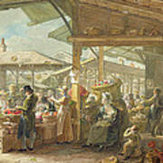 Old Covent Garden Market Art Print by George the Elder Scharf