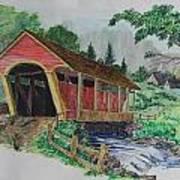 Old Covered Bridge Art Print