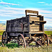 Old Covered Wagon Art Print