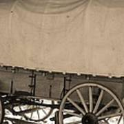 Old Covered Wagon Out West Art Print by Dan Sproul