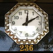 Old Decco Store Clock At 236 Worth Ave Palm Beach Fl Art Print