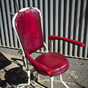 Old Dentist Chair Art Print