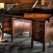 Old Desk In The Attic Art Print