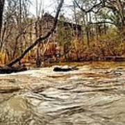 Old Dial Mill On The Rushing Waters Of Big Haynes Creek Art Print