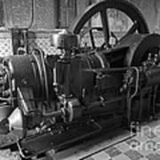 Old Diesel Motor Mexico Art Print