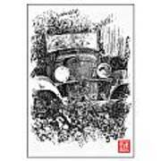 Old Dodge Truck V Art Print