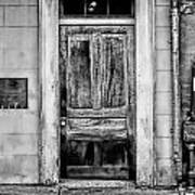 Old Door - Bw Art Print