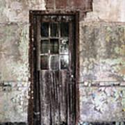 Old Door - Abandoned Building - Tea Art Print by Gary Heller