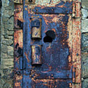 Old Door At Abandoned Prison Art Print