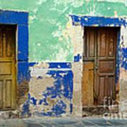 Old Doors, Mexico Art Print