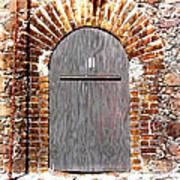 Old Doorway Of Pidgeon Island Fort Art Print