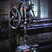 Old Drill Press Art Print