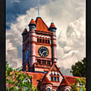 Old Dupage County Courthouse Clouds Poster Art Print