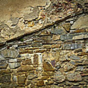 Old Eroded Stone Wall Art Print