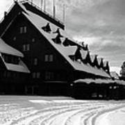 Old Faithful Inn In Winter Art Print
